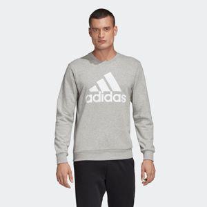 ADIDAS PERFORMANCE Sportovní mikina  šedý melír / bílá
