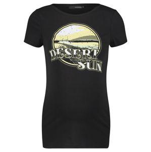 Supermom Tričko 'Dessert Sun'  bílá / černá / světle žlutá