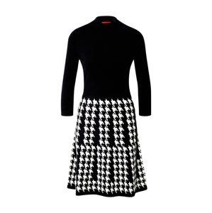 HUGO Úpletové šaty 'Sieny'  bílá / černá