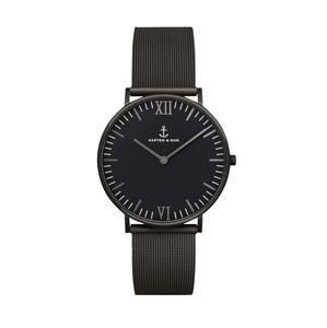 Kapten & Son Analogové hodinky 'Campus'  černá