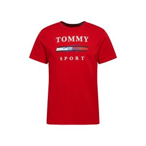 Tommy Sport Funkční tričko  bílá / červená / modrá / kobaltová modř